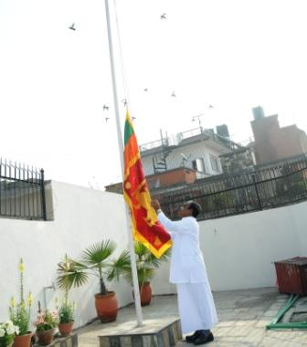 Flag_hoisting_by_Ambassador_Mr._W.M.Senevirathna