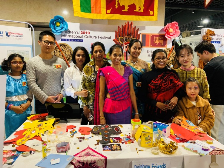 Sri Lanka Embassy, Beijing wins Best Traditional Dress Award at the 2019 Yoofu International Children's Culture Festival Competition in Beijing