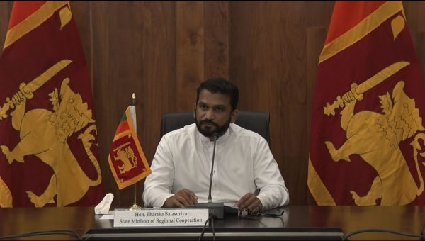 STATE MINISTER FOR REGIONAL CO-OPERATION THARAKA BALASURIYA JOINS THE VICE FOREIGN MINISTER LEVEL VIDEO CONFERENCE ON COVID-19, 10 NOVEMBER 2020
