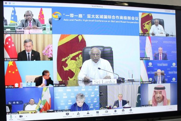 Foreign Minister Dinesh Gunawardena attends the Asia-Pacific High Level Conference on Belt and Road Cooperation